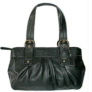 Perfect COACH SOHO Pleated Leather Large Satchel